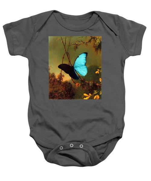 Blue Morpho Butterfly Baby Onesie
