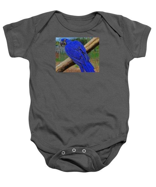 Blue Parrot Baby Onesie