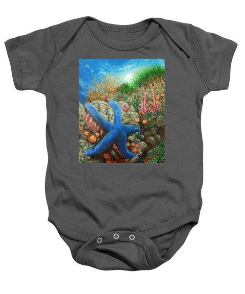 Blue Seastar Baby Onesie