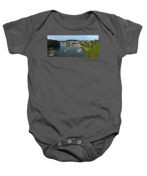 Boats In The Sea, Le Bono, Gulf Of Baby Onesie by Panoramic Images