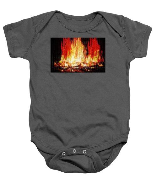 Bonfire Mosaic Baby Onesie