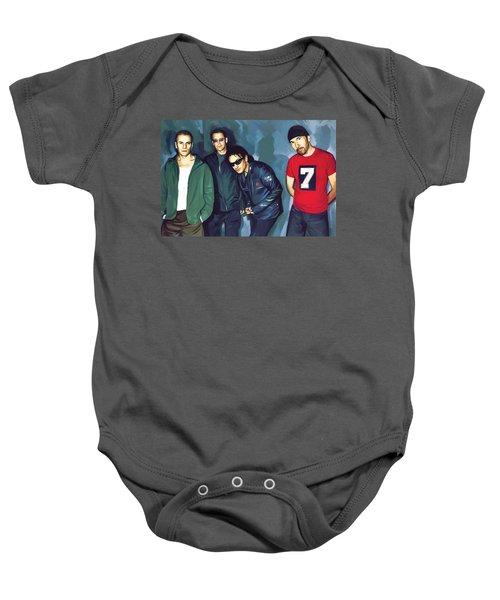 Bono U2 Artwork 5 Baby Onesie