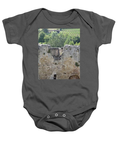 Bordeaux Castle Ruins With Vineyard Baby Onesie