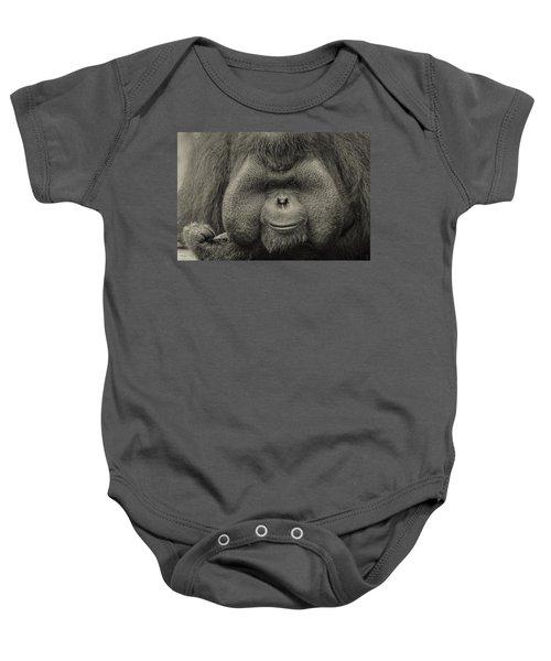 Bornean Orangutan II Baby Onesie by Lourry Legarde