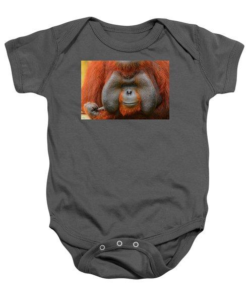 Bornean Orangutan Baby Onesie by Lourry Legarde