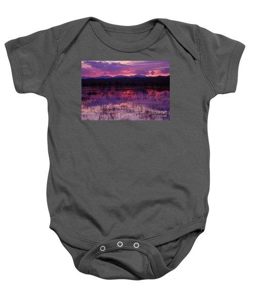 Bosque Sunset - Purple Baby Onesie