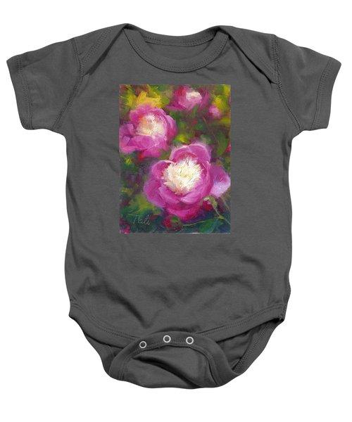 Bowls Of Beauty - Alaskan Peonies Baby Onesie