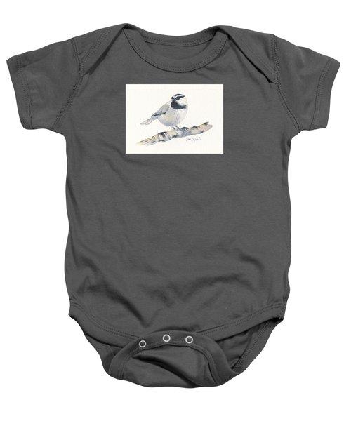 Bozeman Native - Mountain Chickadee Baby Onesie