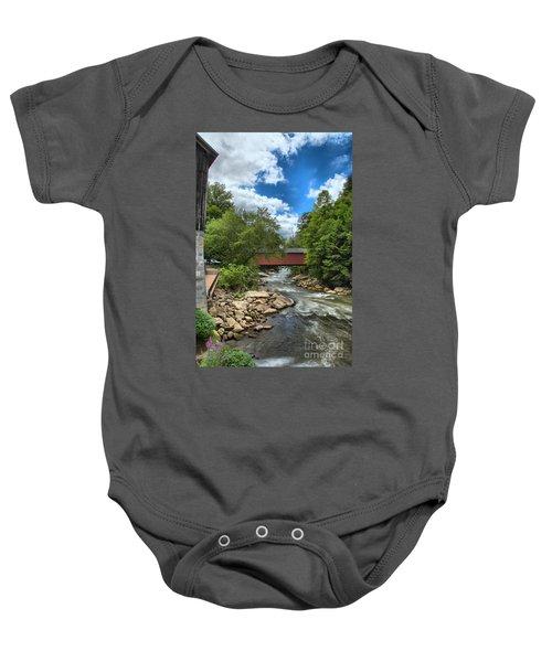 Bridging Slippery Rock Creek Baby Onesie