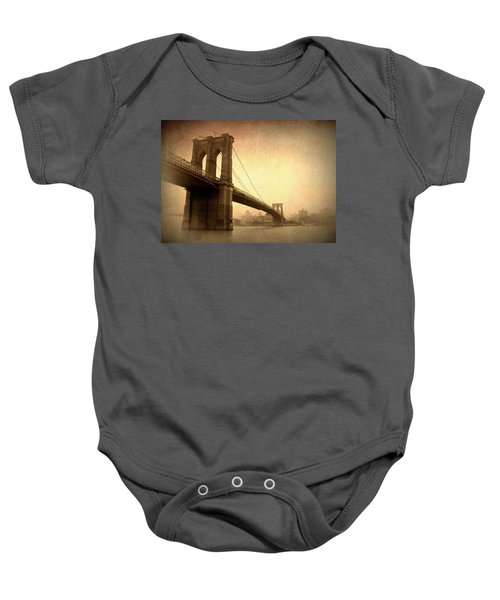 Brooklyn Bridge Nostalgia II Baby Onesie