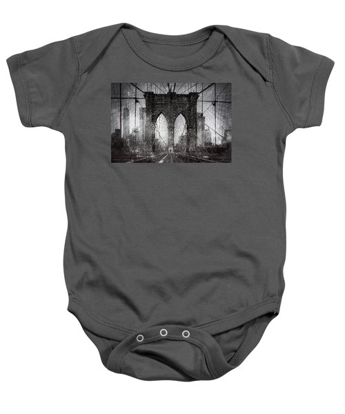 Brooklyn Bridge Snow Day Baby Onesie
