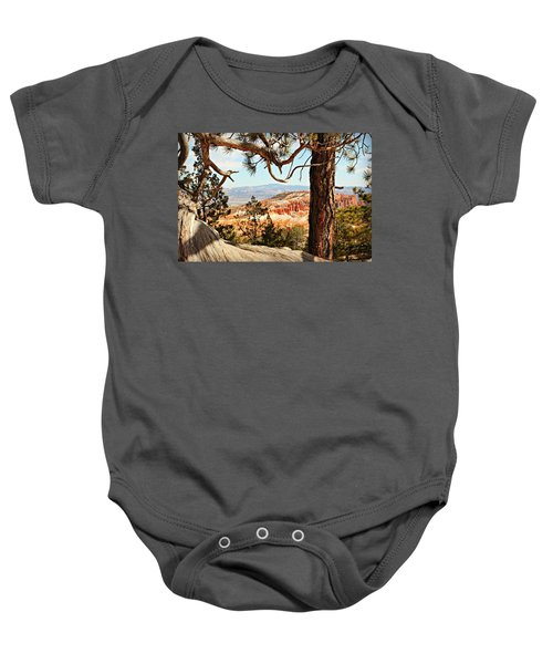 Bryce Canyon Through The Trees Baby Onesie