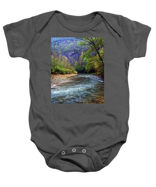 Buffalo River Downstream Baby Onesie