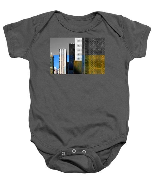 Building Blocks Cityscape Baby Onesie