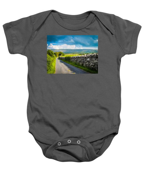 Baby Onesie featuring the photograph Burren Country Road In Ireland's County Clare by James Truett
