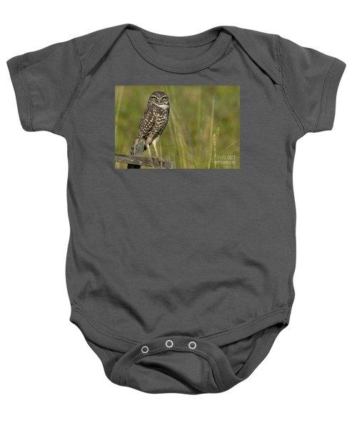 Burrowing Owl Stare Baby Onesie
