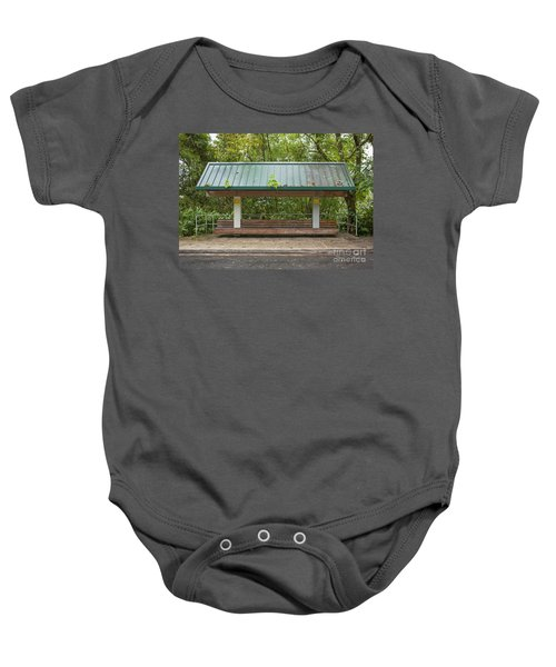 Bus Stop Bench In The Rainforest  Baby Onesie