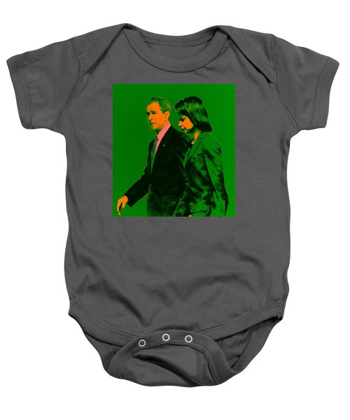Bush And Rice Baby Onesie by Brian Reaves