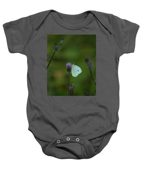 Butterfly In White 2 Baby Onesie