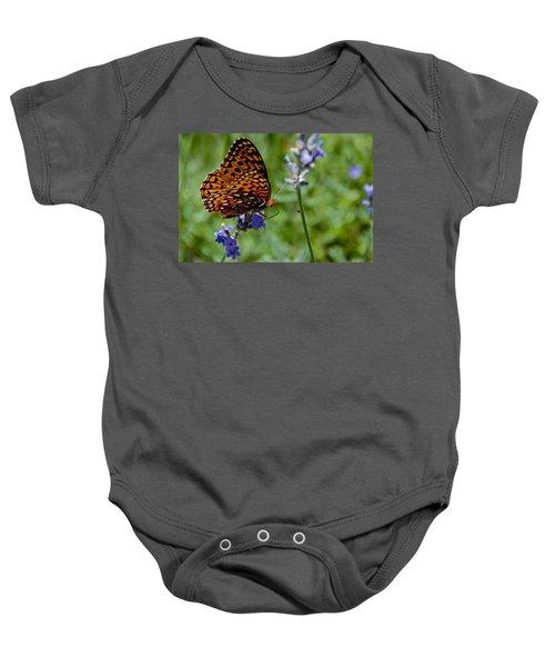Butterfly Visit Baby Onesie