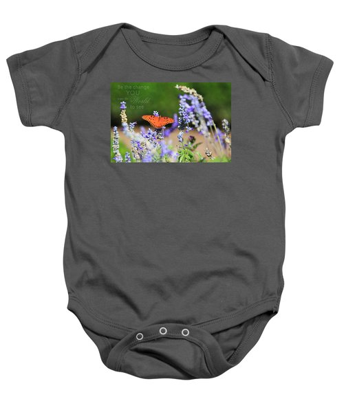 Butterfly With Message Baby Onesie
