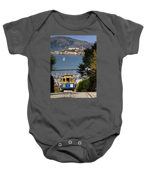 San Francisco Cable Car On Hyde Street Print By Brian Jannsen Photography Baby Onesie
