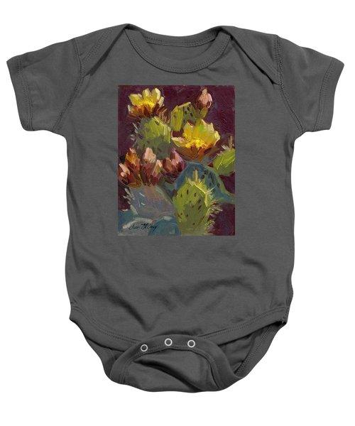 Cactus In Bloom 1 Baby Onesie