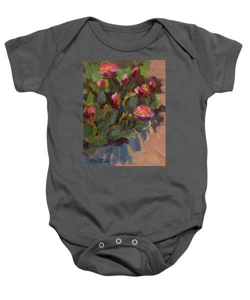 Cactus In Bloom 2 Baby Onesie