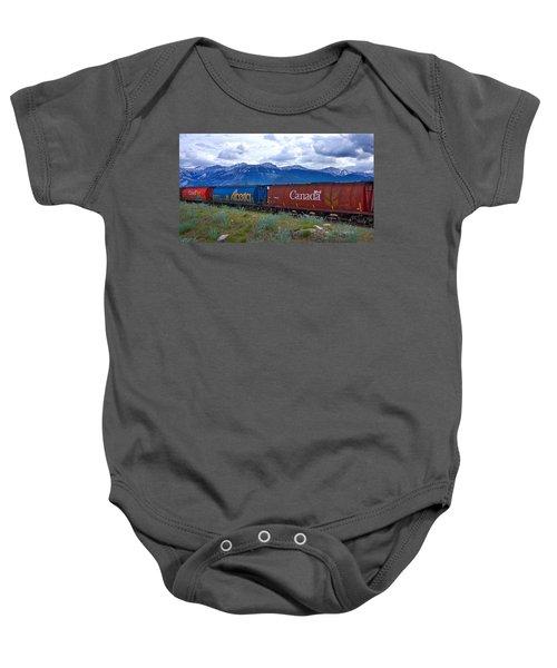 Canadian Freight Train In Jasper #2 Baby Onesie