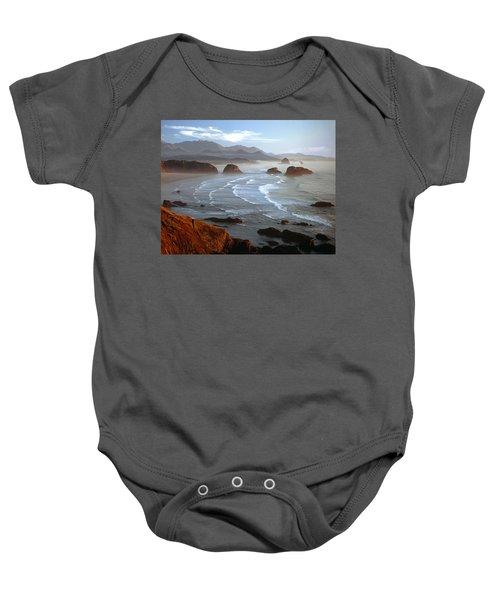 Cannon Beach At Sunset Baby Onesie