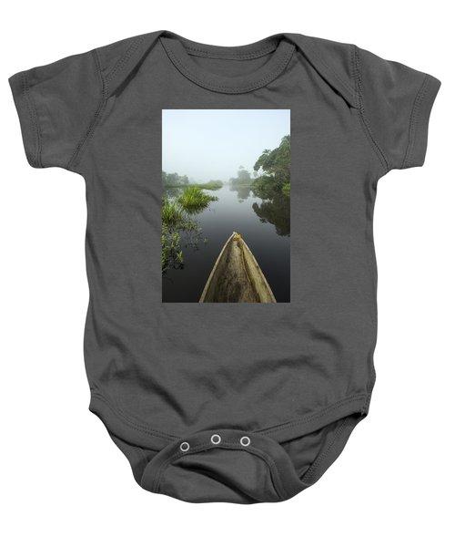Canoe On Lekoli River Drc Baby Onesie