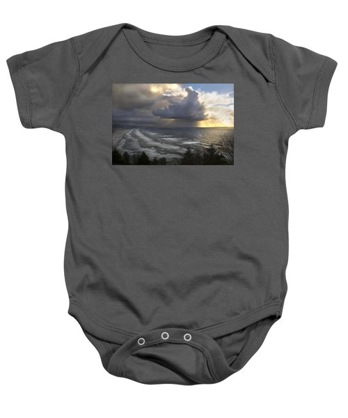Sunset At Cape Lookout Oregon Coast Baby Onesie