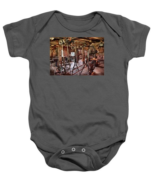Carpenter - This Old Shop Baby Onesie