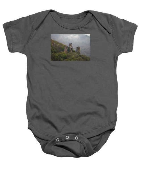 Castle In The Mountains. Baby Onesie