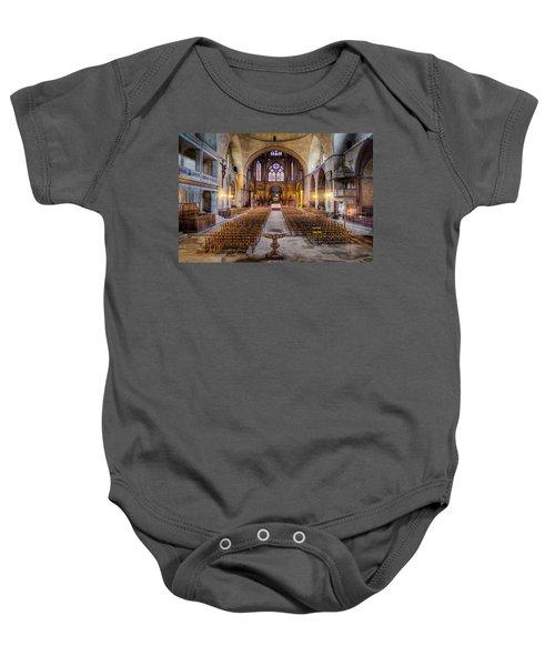 Cathedrale Saint-etienne Interior / Cahors Baby Onesie