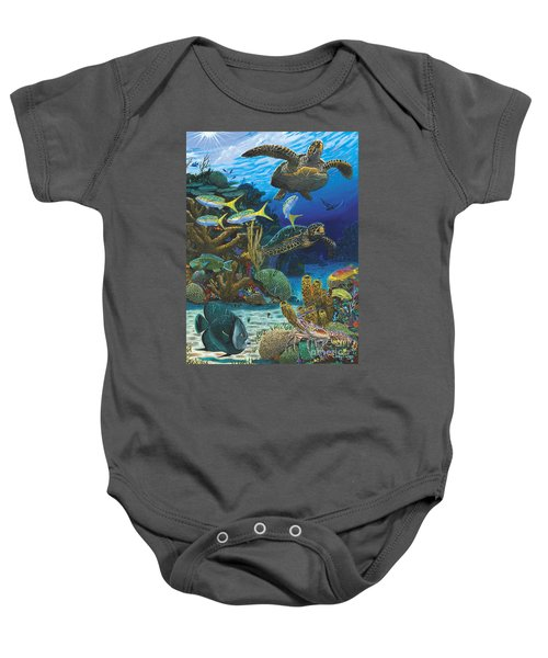 Cayman Turtles Re0010 Baby Onesie