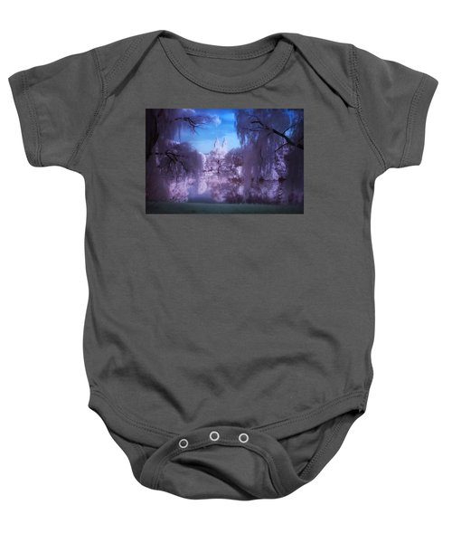 Central Park Lake Willows Color Baby Onesie