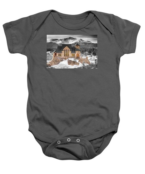 Chapel On The Rock Bwsc Baby Onesie by James BO  Insogna