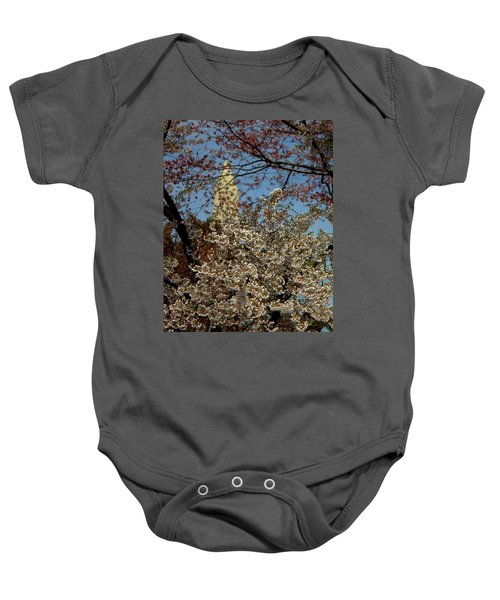 Cherry Blossoms And The Monument Baby Onesie