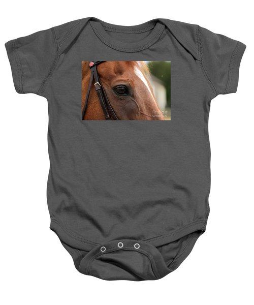 Chestnut Horse Eye Baby Onesie
