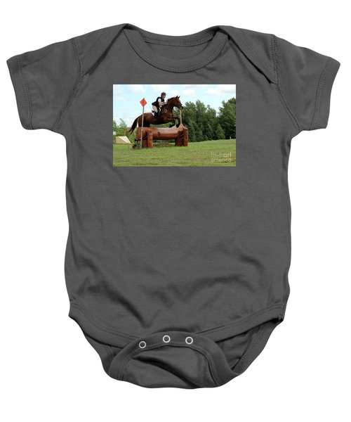 Chestnut Over Log Jump Baby Onesie