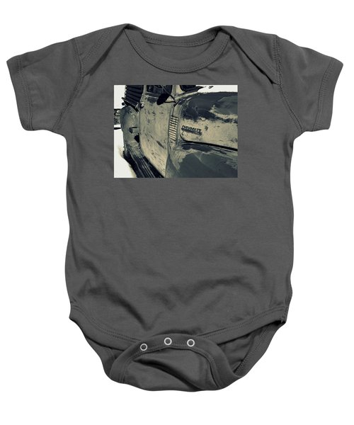 Arroyo Seco Chevy In Silver Baby Onesie