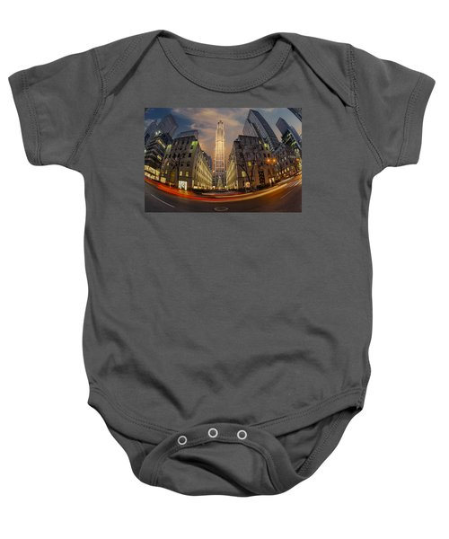 Christmas At Rockefeller Center Baby Onesie