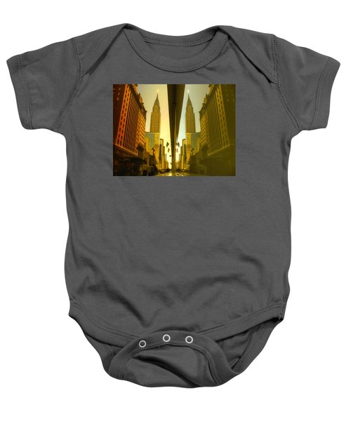 Chrysler Reflection On 42nd Street Baby Onesie