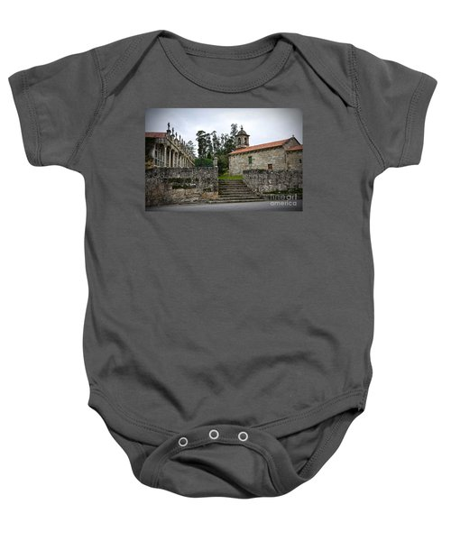 Church And Cemetery In A Small Village In Galicia Baby Onesie