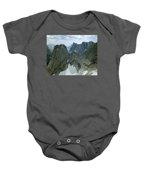 209615-cirque Of Towers, Wind Rivers, Wy Baby Onesie
