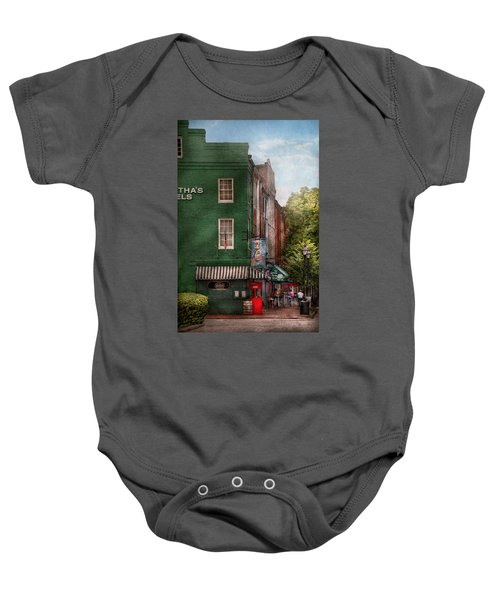 City - Baltimore - Fells Point Md - Bertha's And The Greene Turtle  Baby Onesie