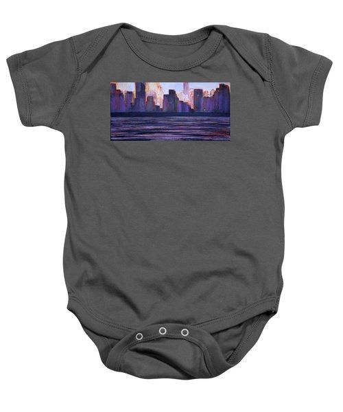 City Sunset Baby Onesie