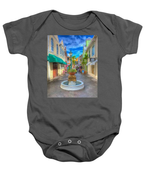 Classic Hdr Fountain Baby Onesie