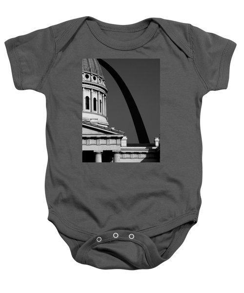 Classical Dome Arch Silhouette Black White Baby Onesie